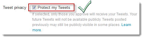 Twitter Security - Protect Tweets