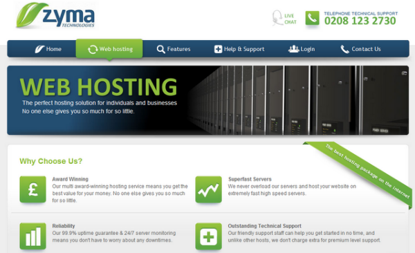 Zyma Web Hosting Giveaway